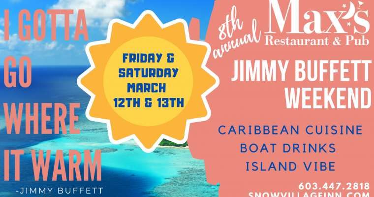 Jimmy Buffett Weekend Menu